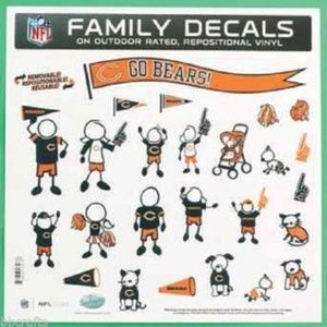 Other - NFL Chicago Bears Large Family Decal Set
